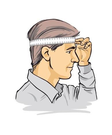 Как мерить обхват головы