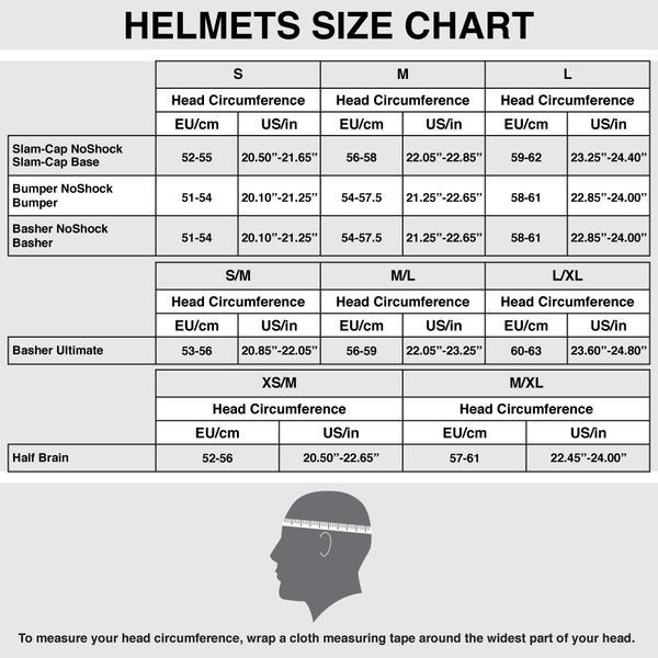 Таблица соответствия размеров шлемов Shred