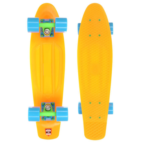 "Скейт мини круизер Юнион 22,5"" Neon Orange"